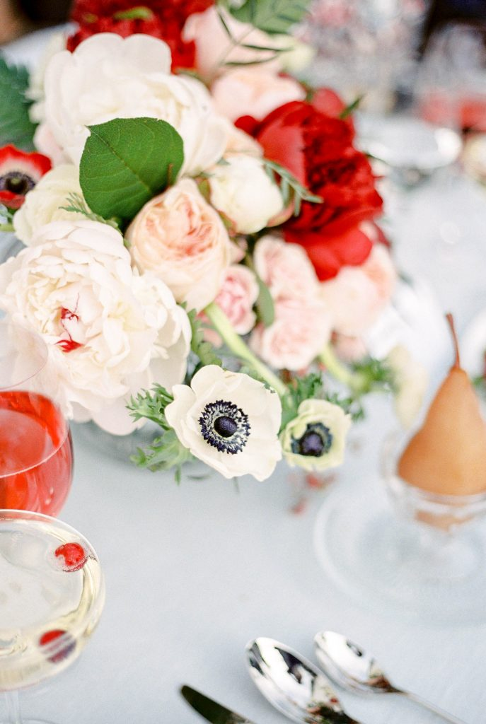 French blue and cranberry holiday gathering by Valley & Company Events and Kerry Jeanne Photography