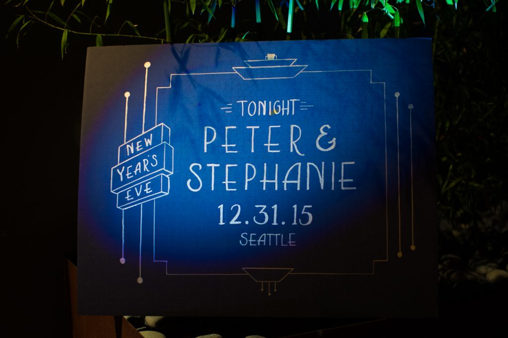 Festive Seattle New Year's Eve wedding from Valley & Company Events