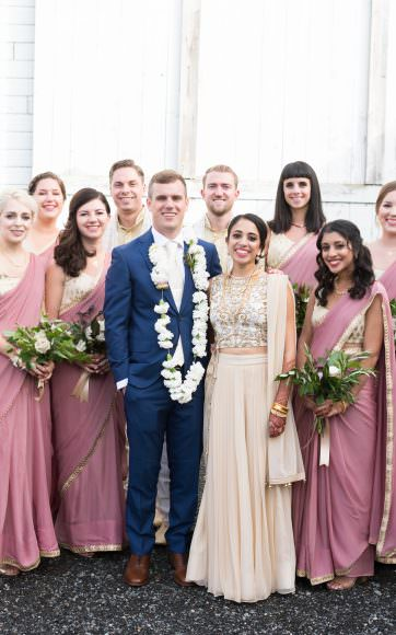 valley & co. wedding :: soft mauve and green barn soiree