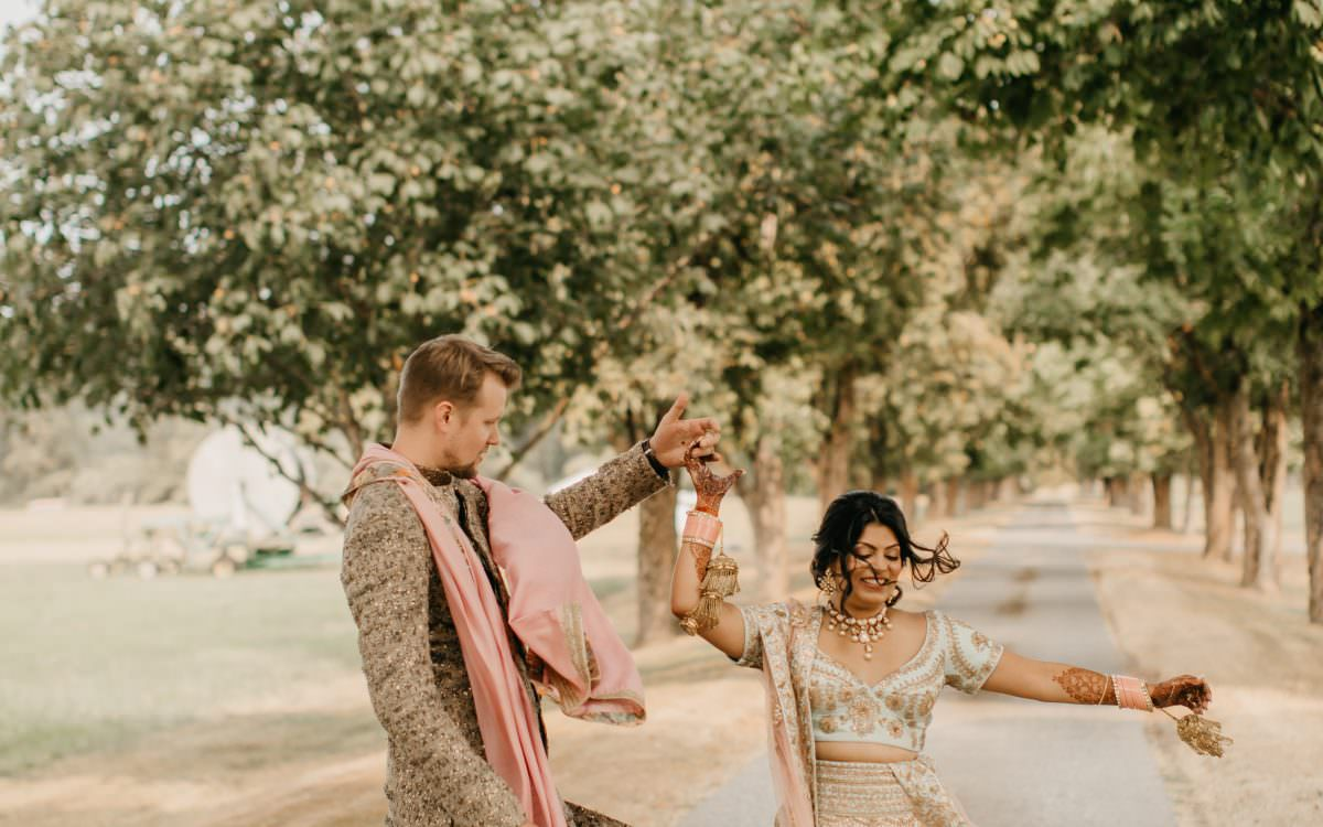Chic Indian-American Wedding in the Countryside