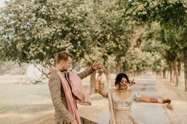 valley & co. wedding :: chic and vibrant Indian-American countryside wedding