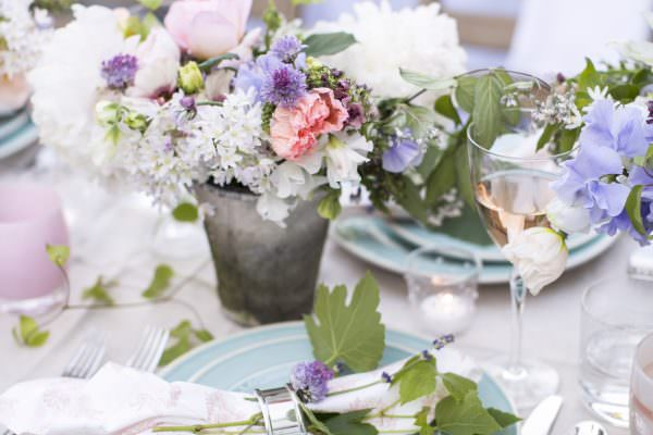 valley & co. designs :: pastel floral-filled wedding shower
