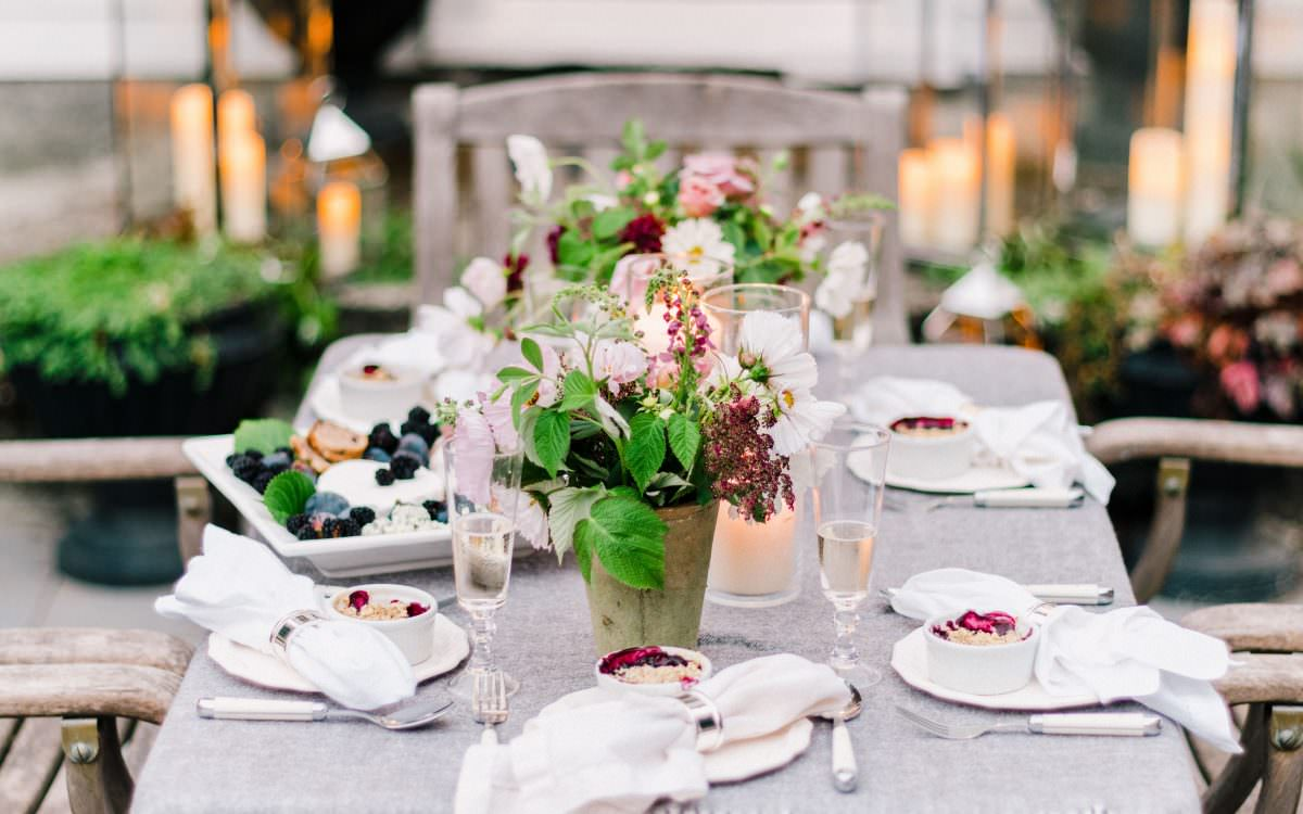 Berry-Inspired Dinner Party for Pottery Barn