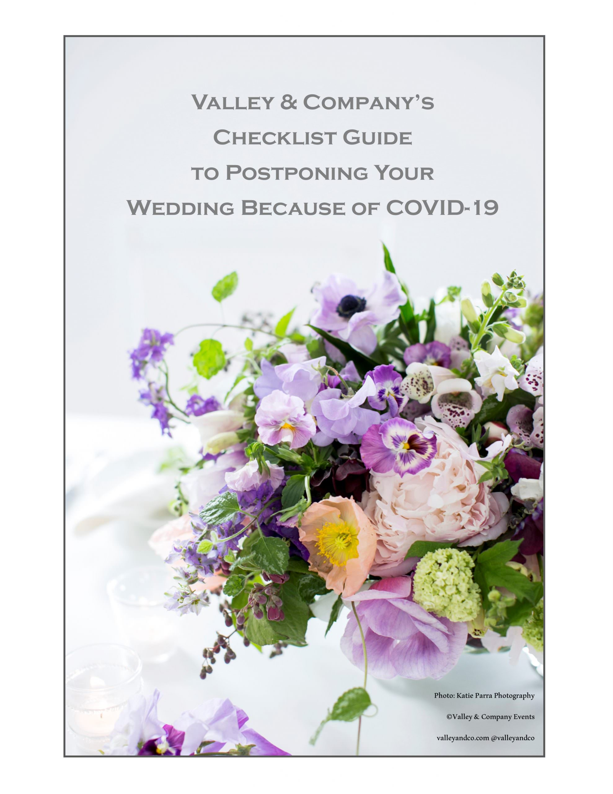 COVID-19 Wedding Planning Postponement Checklist